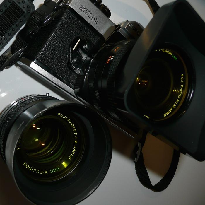 Fuji STX - 28 and 50mm Fujinon Lens's