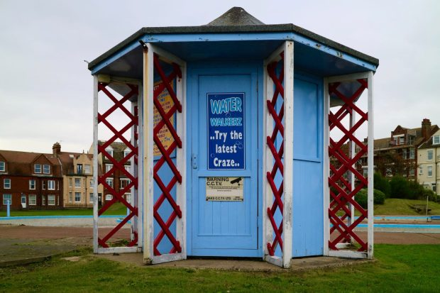 Blue Kiosk